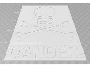 Skull, Danger!, sign