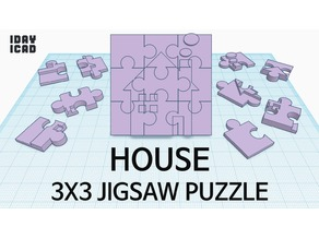 [1DAY_1CAD] 3X3 JIGSAW PUZZLE HOUSE