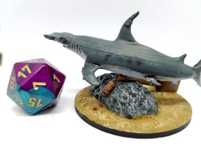 Hammerhead shark for 28mm tabletop gaming