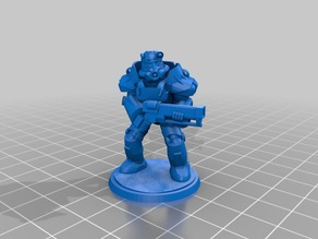 Fallout-Inspired Power Armor Zeerust Retrofuturistic 28mm