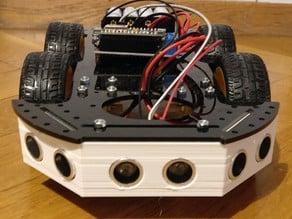 Ultrasonic shield for smart car with 3 ultrasonic sensors
