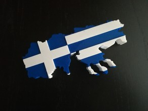 Greek Flag Macedonia Map(Dual print)