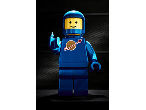 LEGO minifig for large scale printing (retro space person)