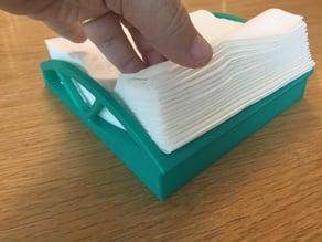 Curved napkin holder