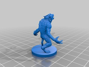 28mm Werewolf miniature for tabletop Rpg