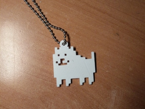 Undertale dog pendant