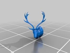 Low Poly Elk Head / Taxidermy Mount