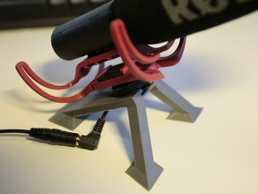Hot shoe microphone mount