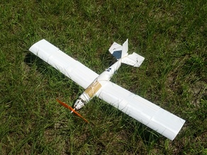 3D printable RC airplane.