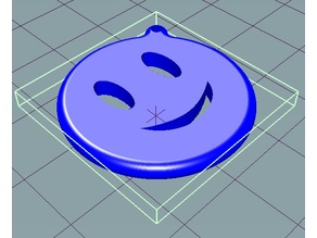 Smiley Face Emoji Keychain