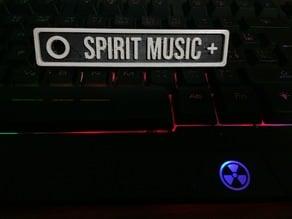 """""""SPIRIT MUSIC"""" Sign or key ring"""