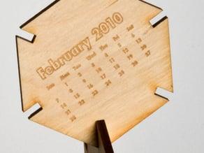 2010 Hex Desktop Calendar