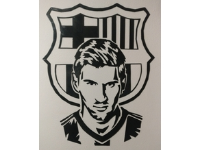 Messi 2D Wall Art
