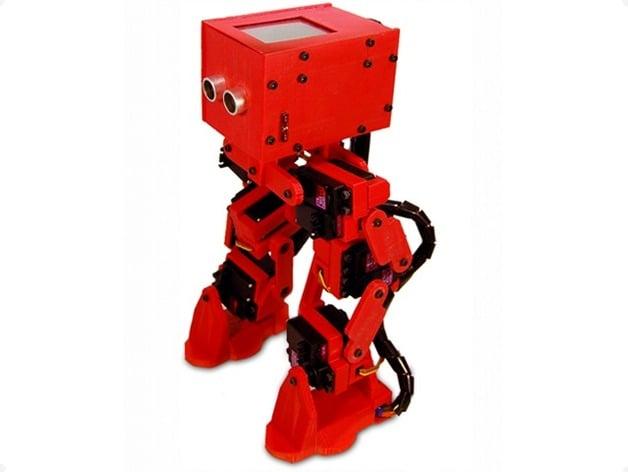 Rofi bipedal robot by jdow thingiverse