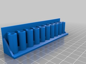 holder for files ( OpenSCAD Parametric ) With Mounting Holes