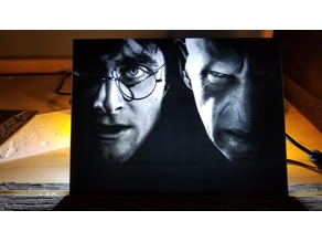 Harry Potter vs Voldemort Lithophane