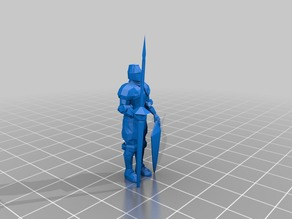 28mm_knight_with_spear_and_shield(lowpoligon)