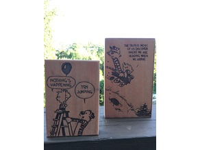 Calvin and Hobbes Laser Cut Comics