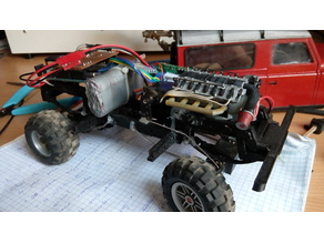 chassis/suspension for 3D printed Land Rover Defender