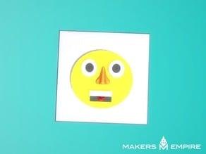 Funny face emoji style