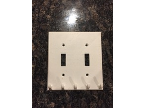Double Switch key hook plate