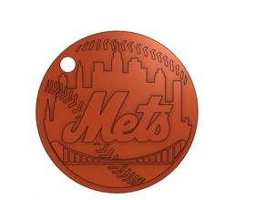 New York Mets Keychain