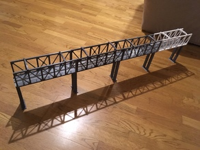 Pont pour train électrique échelle HO