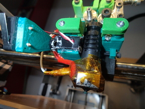 Z-Probe extruder mount for Solidoodle, for auto bed leveling