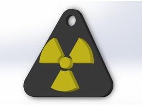 Keychain radioactive symbol (5 version)