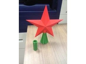 XMas NewYear pinetree topper star