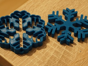 Snowflake mold for cakes