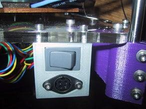 rostock-mini Power Jack / Switch Holder