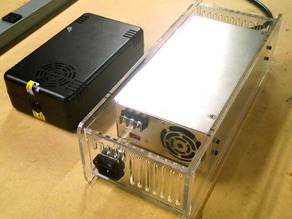 Meanwell SE-600 Power Supply - Laser cut enclosure - Rigidbot replacement