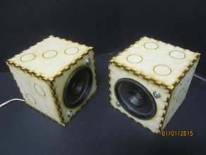 Laser cut Dice Speaker Box