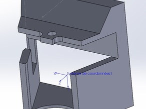 Fan duct for prusa mendel V2 model Heacent 3DP02 (K-extruder)