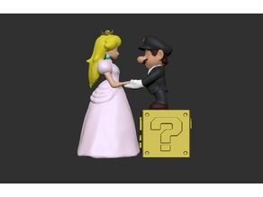 Mario and Peach- Wedding Cake Topper