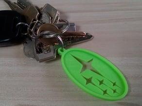 Subaru logo keychain V.2
