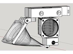 Soporte Extrusor E3D para P3Steel con fan de capa