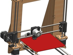 Prusa i3 - STLs for Improved Laser Cut Frame Design