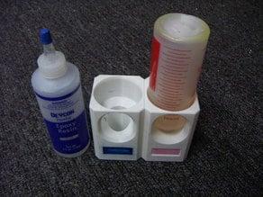 Inverted epoxy bottle holder
