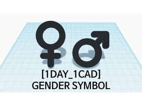 [1DAY_1CAD] GENDER SYMBOL