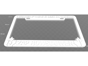 Zap Rowsdower - I Wonder If There Is Beer On The Sun, license plate frame, MST3K