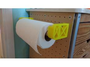 Pegboard Paper Towel Holder for 25mm rod