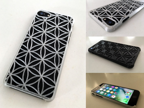 Very thin iPhone 7 case with tactile feel - Flower of Life design