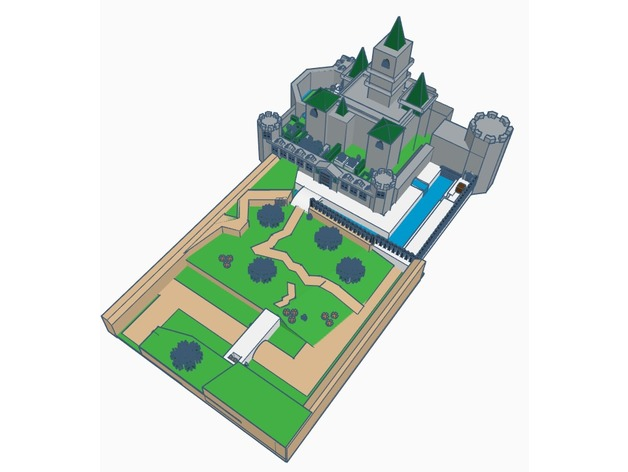 Hyrule Castle Low Poly By Mintyfries Thingiverse