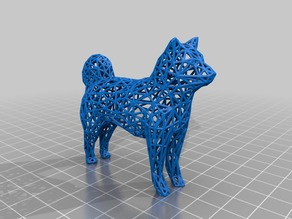 WireFrame Dog Shiba Inu