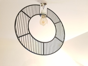 Modular Wire-Frame Circle Chandelier/Lampshade