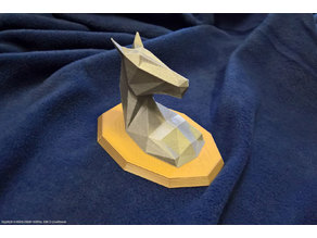 Low-poly Horse Head With Mount