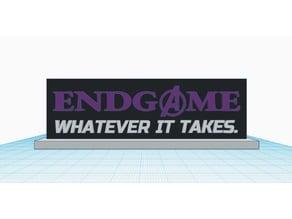 Avengers Endgame Plaque