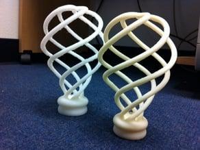Spiral Lightbulb Sculpture